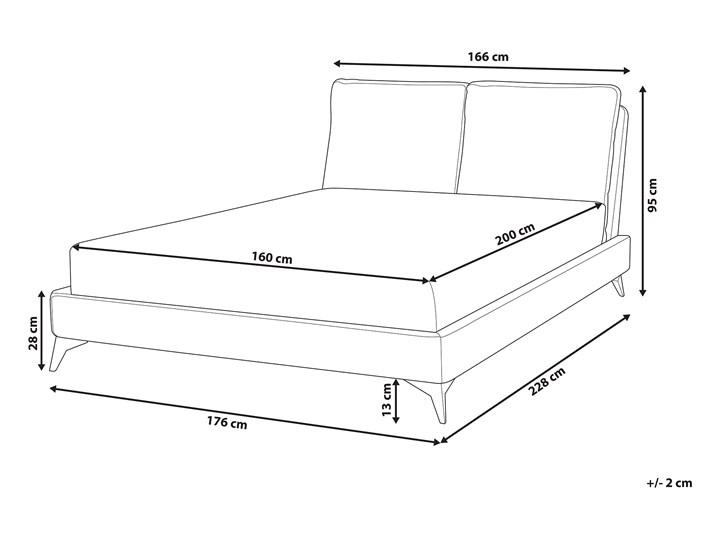 Łóżko ze stelażem ciemnoszare tapicerowane welurem 160 x 200 cm z grubym wezgłowiem nowoczesny design Łóżko tapicerowane Kategoria Łóżka do sypialni