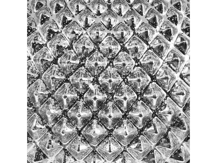 Lampa stołowa srebrna biała 55 cm szklana podstawa wysoki połysk glamour Lampa nocna Kategoria Lampy stołowe