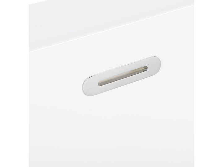 Wanna czarna akrylowa 170 x 80 cm system przelewowy prostokątna minimalistyczny design Kolor Czarny Symetryczne Kategoria Wanny