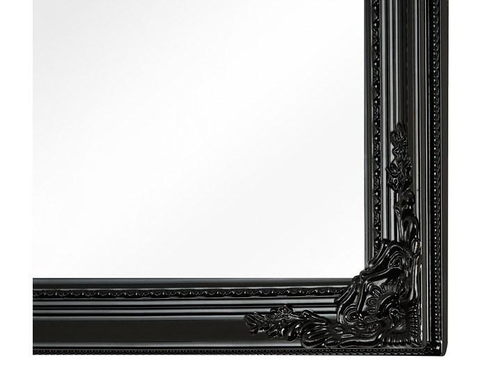 Lustro wiszące ścienne czarne 50 x 130 cm dekoracyjne Pomieszczenie Salon Prostokątne Lustro z ramą Pomieszczenie Przedpokój