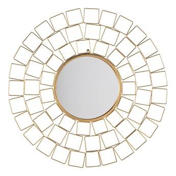 Lustro wiszące ścienne złote 90 x 90 cm geometryczna rama