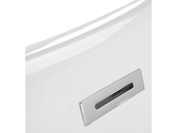 Wanna wolnostojąca biała akrylowa 170 x 77 cm system przelewowy owalna retro Kolor Biały Wolnostojące Kategoria Wanny