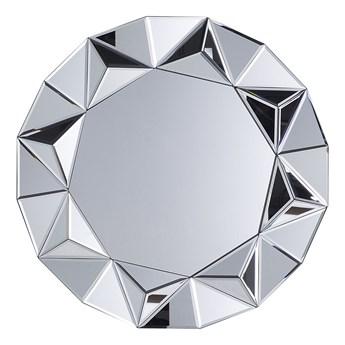Lustro wiszące ścienne srebrne okrągłe 70 cm ozdobne