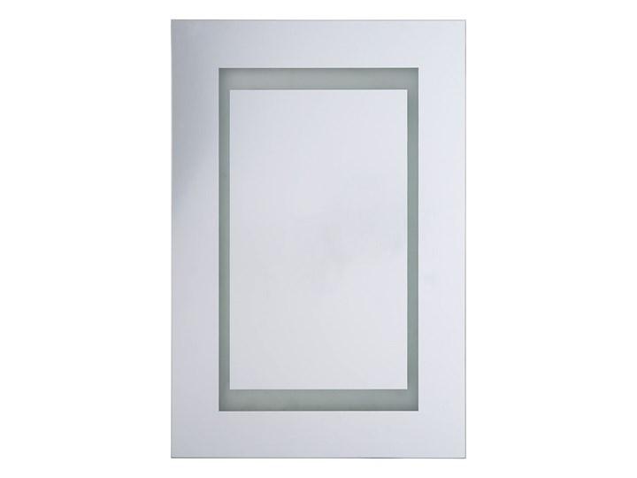 Szafka wisząca z lustrem i oświetleniem LED biała 40 x 60 cm nowoczesna Płyta MDF Szerokość 40 cm Głębokość 12 cm Szkło Wiszące Szafki Kolor Biały