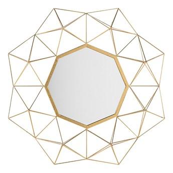 Lustro wiszące ścienne złote 69 x 80 cm geometryczne