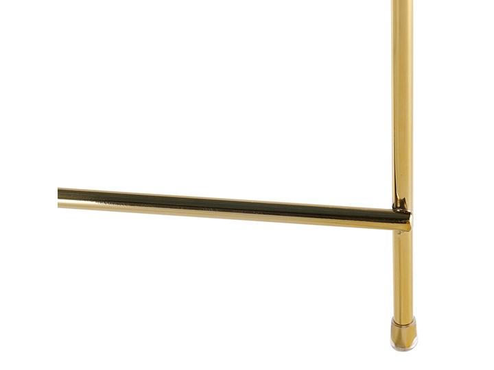 Stolik kawowy złotobrązowy blat z hartowanego szkła złote metalowe nogi okrągły glamour Wysokość 38 cm Kolor Złoty Szkło Kształt blatu Okrągłe