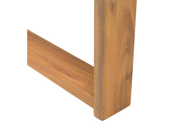 Zestaw mebli ogrodowych jasne drewno akacjowe narożnik szare poduszki stolik kawowy Zestawy wypoczynkowe Zestawy kawowe Zestawy modułowe Styl Nowoczesny Kategoria Zestawy mebli ogrodowych