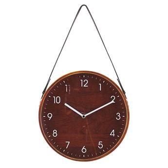 Zegar ścienny MDF brązowy 26 cm retro