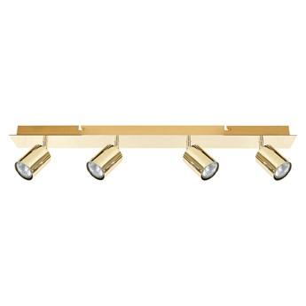Lampa sufitowa złota metalowa 70 cm 4-punktowa regulowane klosze matowe wykończenie nowoczesna