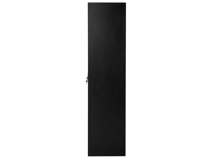 Szafa ubraniowa czarna metalowa 120 x 45 x 180 cm 4 x podwójne drzwi na kluczyk z półkami Kolor Czarny Pomieszczenie Biuro i pracownia