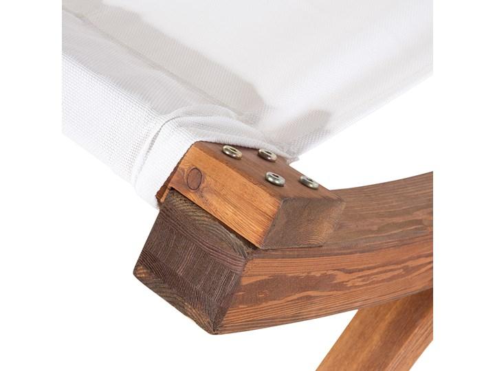 Leżak ogrodowy biały drewno modrzewiowe 2-osobowy zadaszony nowoczesny Kolor Brązowy Kategoria Leżaki ogrodowe