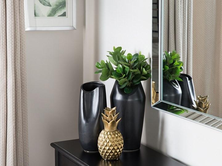 Figurka złoty ananas ozdoba dekoracyjna na stół ceramiczna 23 cm Metal Owoce Ceramika Kategoria Figury i rzeźby