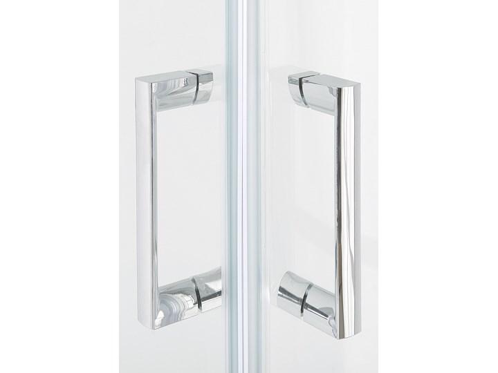 Kabina prysznicowa srebrna szkło hartowane aluminum podwójne drzwi 80x80x185cm nowoczesny design Kategoria Kabiny prysznicowe Kwadratowa Rodzaj drzwi Rozsuwane