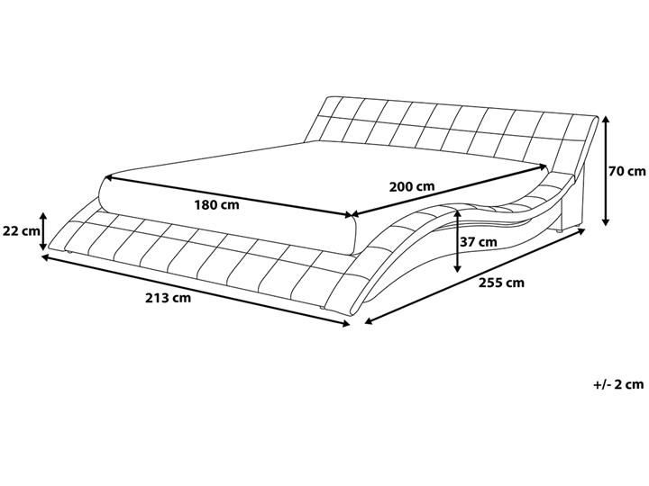 Łóżko ze stelażem tapicerowane tkaniną czarne 180 x 200 cm nowoczesny design falowane Kategoria Łóżka do sypialni Łóżko tapicerowane Kolor Czarny