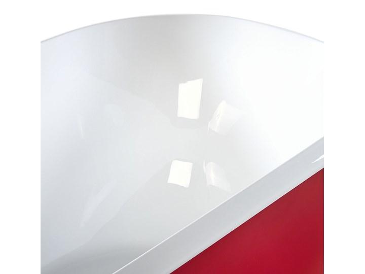 Wanna wolnostojąca czerwona akrylowa 170 x 77 cm system przelewowy owalna współczesna Wolnostojące Kolor Czerwony