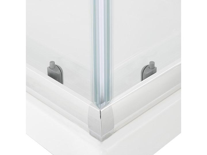 Kabina prysznicowa srebrna szkło hartowane aluminum podwójne drzwi 80x80x185cm nowoczesny design Kwadratowa Kategoria Kabiny prysznicowe Rodzaj drzwi Rozsuwane