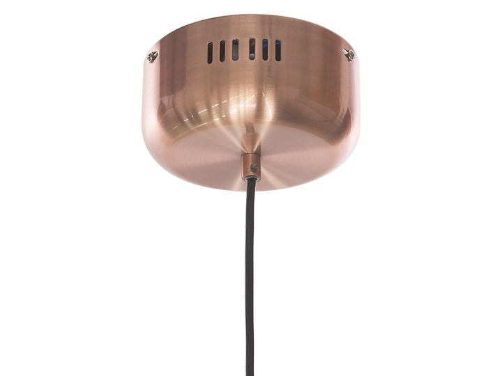 Lampa sufitowa szklana kulisty klosz metalowe elementy w kolorze miadzianym nowoczesna Lampa z kloszem Kolor Miedziany Szkło Styl Nowoczesny