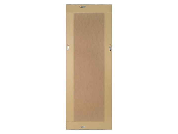 Lustro wiszące ścienne czarne 50 x 130 cm dekoracyjne Prostokątne Lustro z ramą Styl Nowoczesny Pomieszczenie Przedpokój