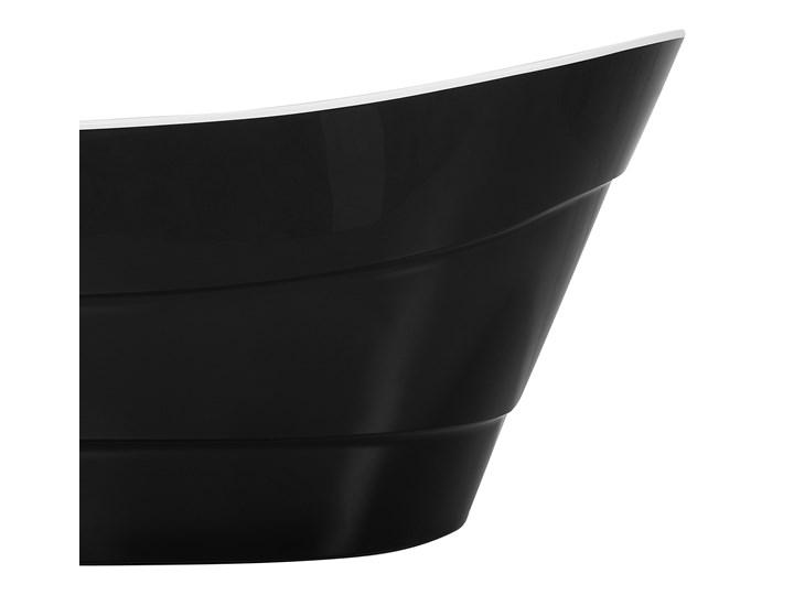 Wanna wolnostojąca czarna akrylowa 170 x 73 cm owalna Kolor Czarny Wolnostojące Kategoria Wanny