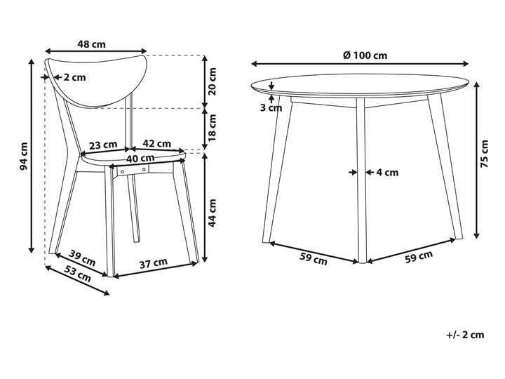 Zestaw do jadalni biały płyta MDF okrągły stół z 4 krzesłami komplet mebli kuchennych Pomieszczenie Jadalnia