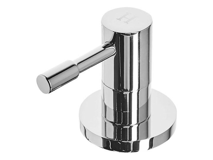 Bateria umywalkowa kran srebrna mosiężna dwa regulatory Wykończenie Stal Wykończenie Mosiądz