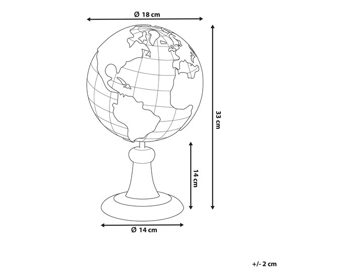 Figurka dekoracyjna globus złota żywica syntetyczna 33 x 18 cm Metal Globusy Kategoria Figury i rzeźby Kolor Złoty