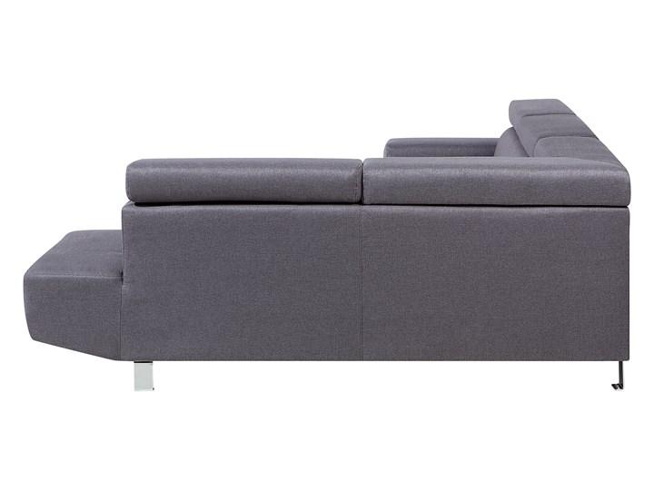 Narożnik lewostronny szary tapicerowany 5 osobowa sofa z regulowanymi zagłówkami W kształcie L Boki Z bokami Styl Nowoczesny
