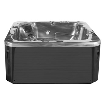 Wanna ogrodowa srebrna akrylowa zewnętrzne spa z LED i hydromasażem