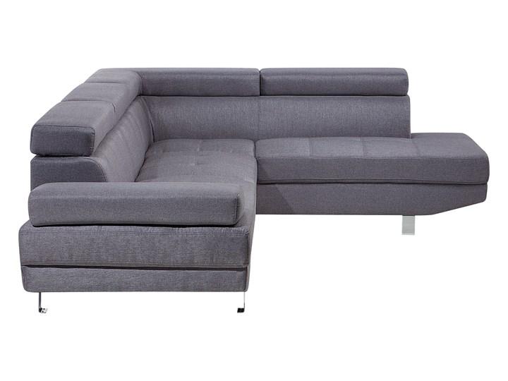 Narożnik lewostronny szary tapicerowany 5 osobowa sofa z regulowanymi zagłówkami Kategoria Narożniki W kształcie L Styl Nowoczesny