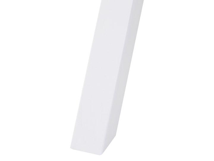 Biurko białe z jasnym blatem MDF 103 x 50 cm z szufladami małe skandynawski Sosna Drewno Płyta MDF Pomieszczenie Biuro