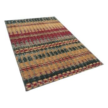 Dywan wielokolorowy 140 x 200 cm prostokątny w stylu tradycyjnym