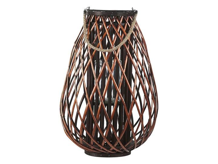 Lampion dekoracyjny brązowy drewno wierzbowe 60 cm świecznik Kategoria Świeczniki i świece