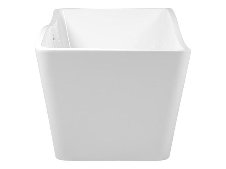 Wanna wolnostojąca biała akrylowa 170 x 78 cm system przelewowy prostokątna glamour Wolnostojące Długość 170 cm Symetryczne Stal Kolor Biały