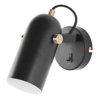 Lampa ścienna czarna metalowa 17 cm regulowany klosz styl industrialny kinkiet do sypialni salonu