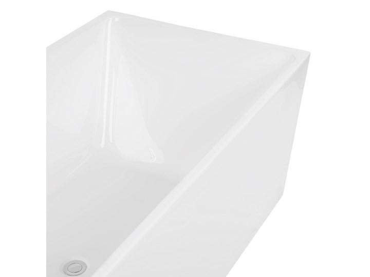 Wanna wolnostojąca biała akrylowa 170 x 81 cm system przelewowy prostokątna współczesna Symetryczne Wolnostojące Kolor Biały Długość 170 cm Kategoria Wanny
