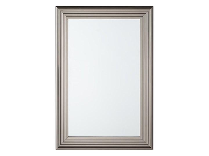 Lustro ścienne wiszące srebrne 61 x 91 cm łazienka sypialnia toaletka Lustro z ramą Prostokątne Kolor Srebrny