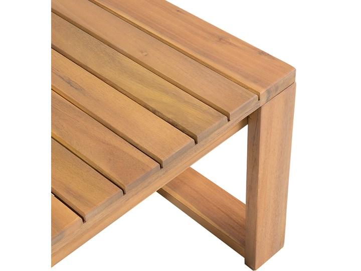 Zestaw mebli ogrodowych jasne drewno akacjowe narożnik szare poduszki stolik kawowy Zestawy kawowe Zestawy modułowe Zestawy wypoczynkowe Kategoria Zestawy mebli ogrodowych