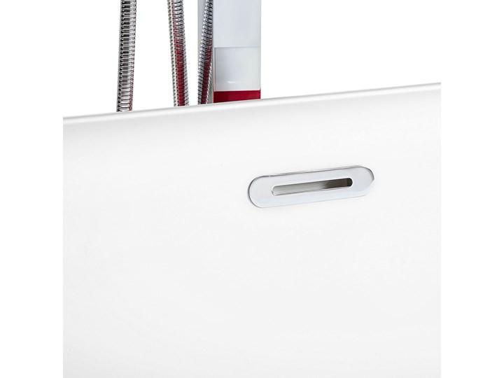 Wanna wolnostojąca czerwona akrylowa 170 x 77 cm system przelewowy owalna współczesna Kolor Czerwony Wolnostojące Kategoria Wanny