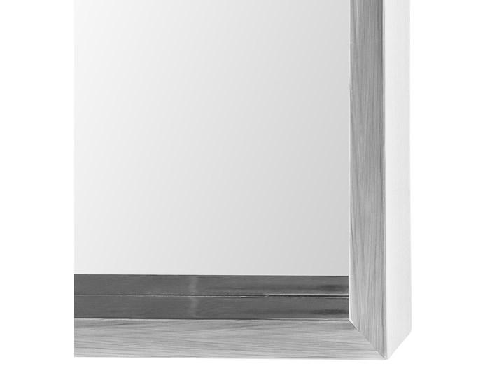 Lustro ścienne wiszące szare 50 x 140 cm Pomieszczenie Garderoba Prostokątne Lustro z ramą Kolor Srebrny