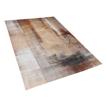 Dywan beżowy 140 x 200 cm krótkowłosy abstrakcyjny wzór