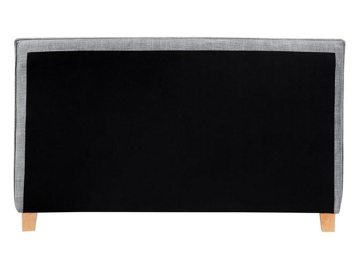 Łóżko szare tapicerowane 160 x 200 cm dwuosobowe ze stelażem i zagłówkiem styl skandynawski Łóżko tapicerowane Kategoria Łóżka do sypialni