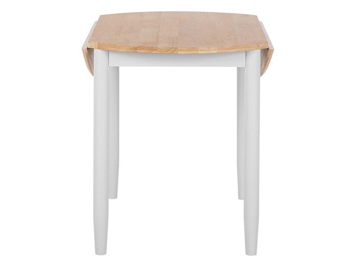 Stół do jadalni szary jasne drewno 60/92 x 92 cm rozkładany okrągły 4 miejsca skandynawski Szerokość 60 cm Styl Nowoczesny