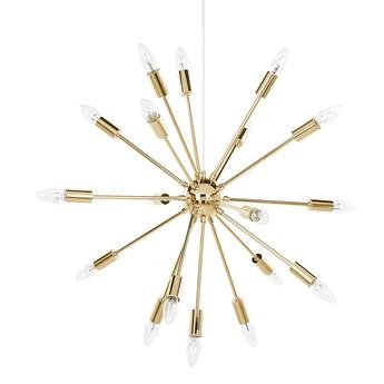 Beliani Lampa sufitowa złota metalowa 149 cm 18 żarówek kształt gwiazdy współczesna