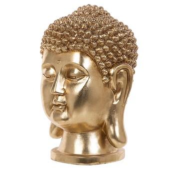 Figura dekoracyjna złota stojąca głowa Buddy 41 cm