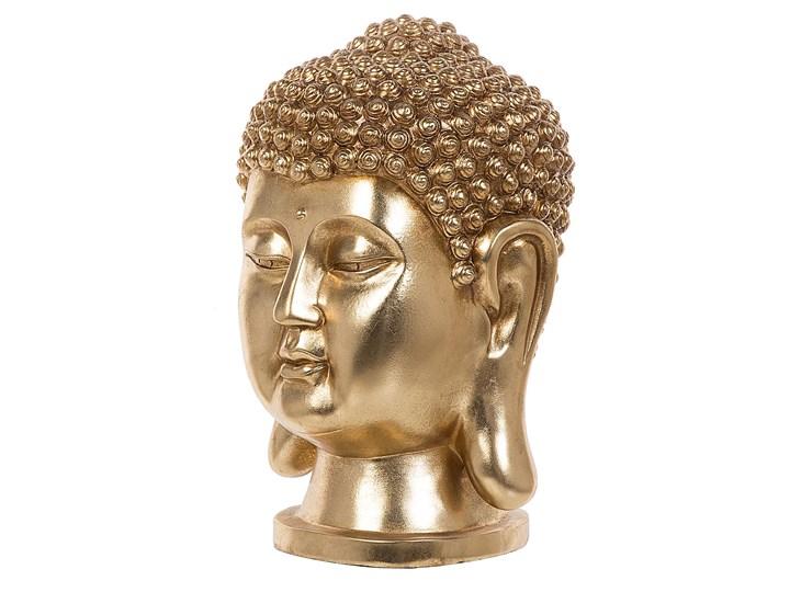 Figura dekoracyjna złota stojąca głowa Buddy 41 cm Rośliny Kolor Złoty Ludzie Tworzywo sztuczne Kategoria Figury i rzeźby