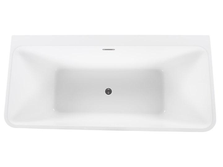 Wanna czarna akrylowa 170 x 80 cm system przelewowy prostokątna minimalistyczny design Symetryczne Kolor Czarny