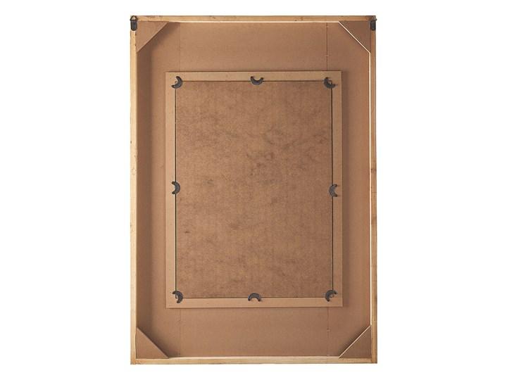 Lustro ścienne wielokolorowe drewniana prostokątna rama  63 x 90 cm ręcznie wykonane postarzane boho Prostokątne Lustro z ramą Pomieszczenie Sypialnia