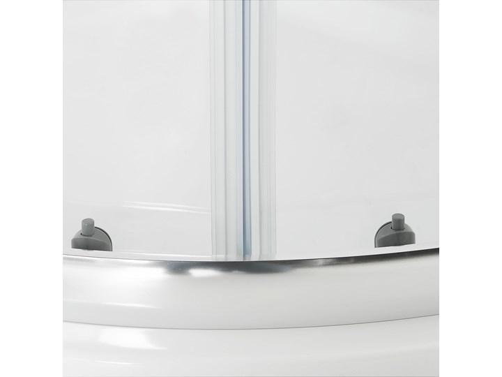Kabina prysznicowa srebrna szkło hartowane aluminum podwójne drzwi półokrągłe 80x80x185cm nowoczesny design Rodzaj drzwi Rozsuwane Narożna Kategoria Kabiny prysznicowe