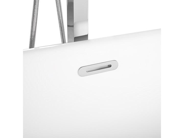 Wanna wolnostojąca srebrna akrylowa owalna nowoczesna minimalistyczna Retro Wolnostojące Kolor Srebrny