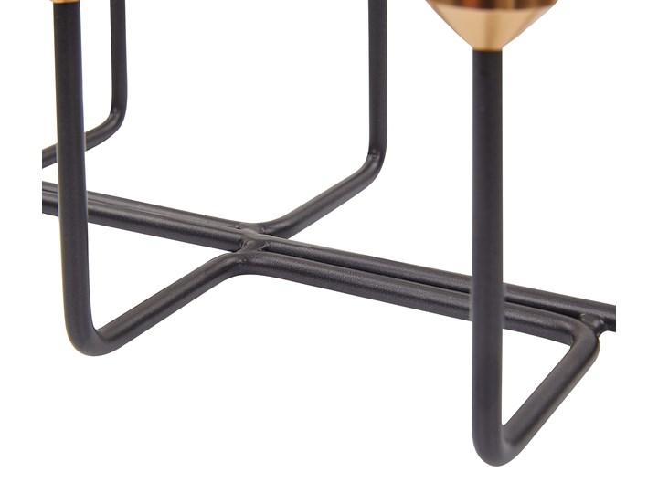 Świecznik czarny metalowy stojak na 6 świec dekoracja na stół nowoczesna Kategoria Świeczniki i świece Kolor Złoty
